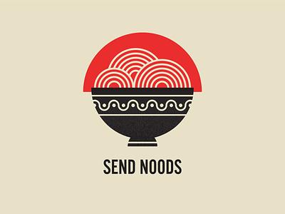 Send noods digital illustration noodles ramen food illustration
