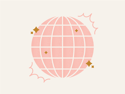 Disco Party! dance sparkle party pink 70s disco ball disco digital illustration illustration