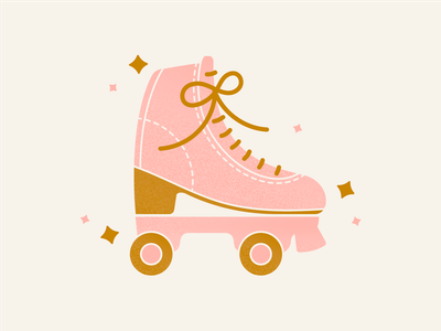 Later Sk8ter sparkle retro disco skates digital illustration illustration