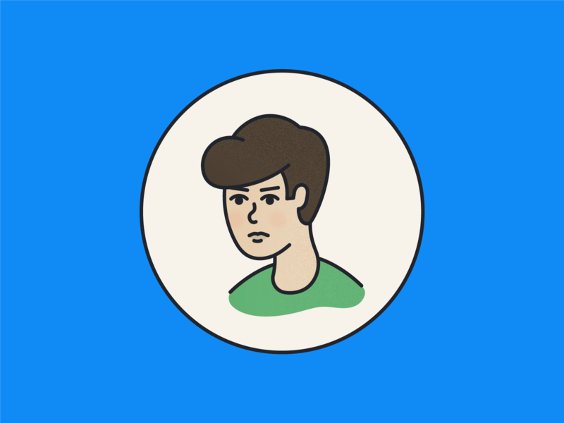 Husband person avatar portrait branding illustration digital illustration
