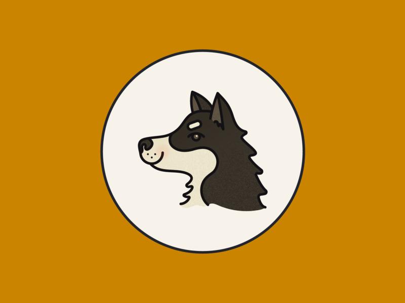 Lucy portrait dog branding digital illustration illustration