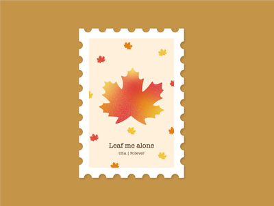 Leaf me alone branding stamp leaf fall digital illustration illustration
