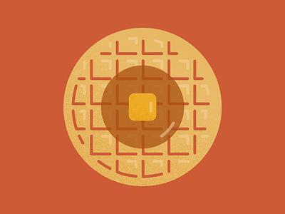 Waffle parks and rec leslie knope 2d breakfast waffle digital illustration food illustration