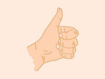 You got it, dude orange thumbs up hand 2d digital illustration digital illustration