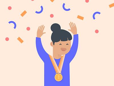 Hooray! confetti party celebrate winner characterdesign character design digital illustration digital illustration