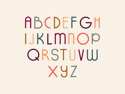 Fall Typeface alphabet letters line art dribbbleweeklywarmup fall typeface font