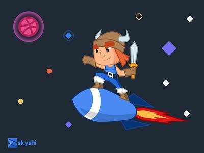 Skyshi Debut startup character hero dribbble debut skyshi