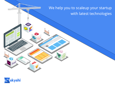 We Scale Up Your Startup landingpage technologies web startup