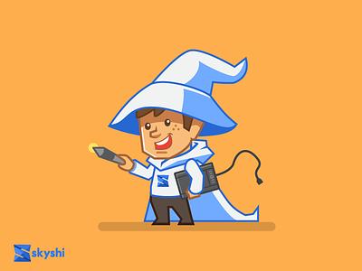 Designer Wizard design character ux ui wizard designer