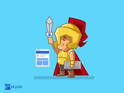 Frontend Warrior page design ux ui warior slicer html dev developer front-end