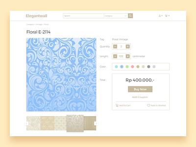 Elegantwall floral order buy ecommerce website ui wallpaper