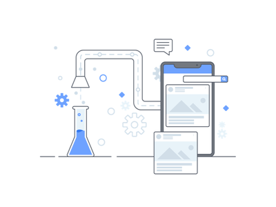 Scale Up Startup - 2 icon wireframe ux illustration ui design chemistry mobile phone