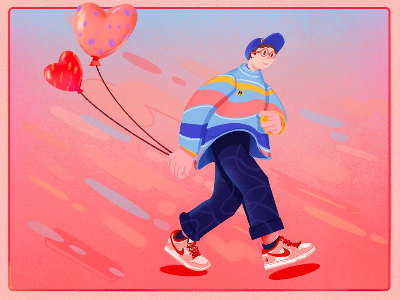 Valentine's Day procreate ipadpro photoshop illustration