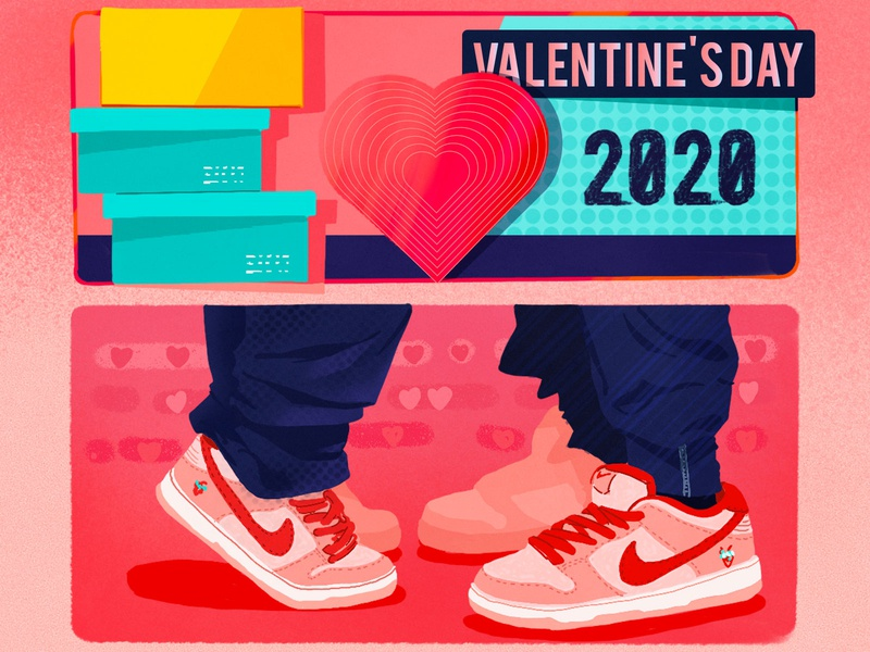 Valentine's Day-2 pink procreate ipadpro photoshop illustration