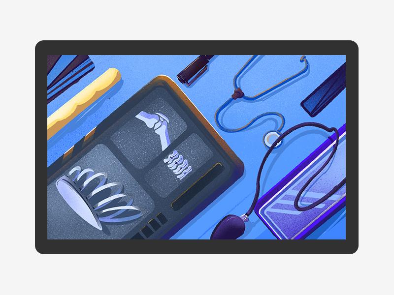 Doctor EDC 六回 doctor edc dribbble blue ipadpro photoshop illustration