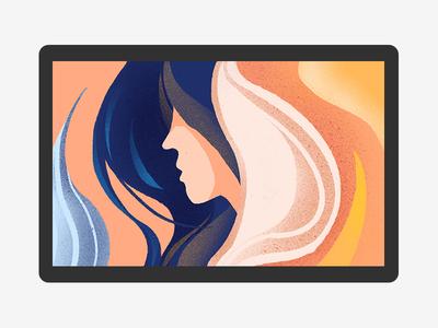 Long hair girl procreate ipadpro girl hair design yellow 六回 dribbble photoshop illustration