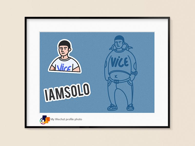 My Wechat profile photo icon blue photoshop wechat profile photo wechat illustration