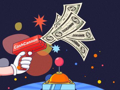 CashCannon supreme gun design ipadpro 六回 photoshop illustration