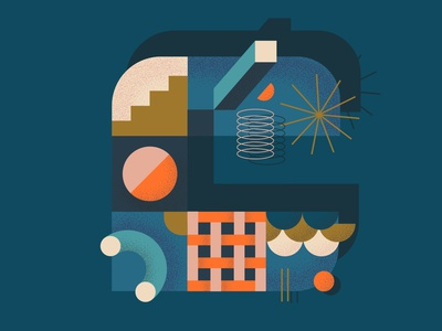 Letter C @36daysoftype playful geometric typeinspire lettering 36daysoftype illustration design graphic