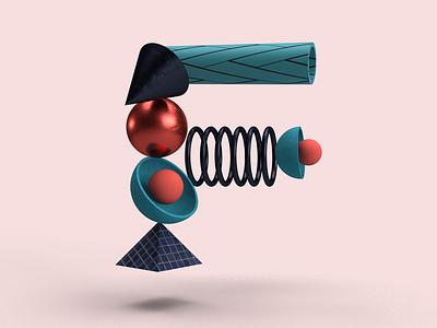 F @36daysoftype 3d 36daysoftype design illustration graphic