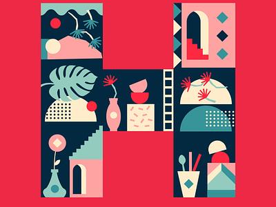 Letter H 36daysoftype illustration design graphic