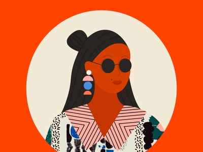 Oh yeah texture character girly girl illustration 36daysoftype girls graphic
