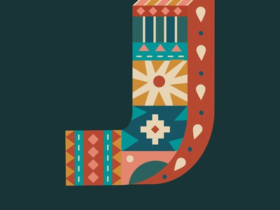 Letter J 36daysoftype design illustration graphic