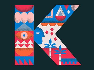 Letter K work 36daysoftype packaging design illustration graphic