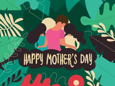 Happy Mother's day illustration ideas creative mothersday graphicdesign girls mother graphic