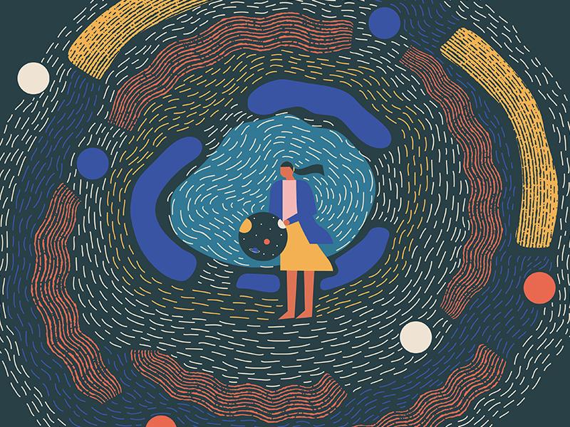 Illustration series - Beautiful Escape. dimension space design beautiful escape futuristic surreal