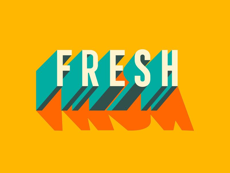 Fresh graffiti typography. type fresh design illustration graphic