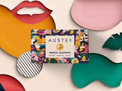 Auster Vape Liquid Packaging colorful vape design illustration graphic