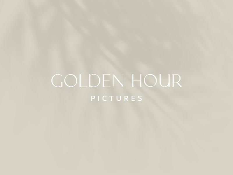 Golden Hour Pictures Logotype logotypes typedesign type typeface sans serif serif design vector logo branding typography classy sand shading minimal logo design photography luxury logotype logo mark