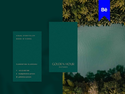 Golden Hour Picture Rebrand Behance project highend copper gold travel timeless typeface logotypes luxurious typography rebrand photography forest green behance logotype luxury minimal branding logo