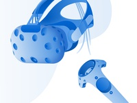 Enversed Studios Virtual Reality Illustrations technical gaming glasses goggles digital high end technology vector blue hardware infographic uiux illustrations startup tech vr virtual reality