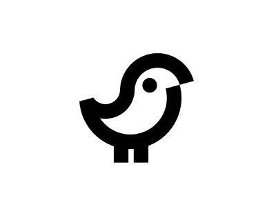 Bird mark icon bw minimalistic cute chick animals animal natural outlined black white black simple minimal line birds nature chicken parrot mark bird