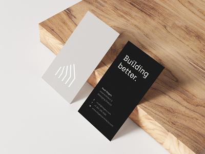 Stegers Branding Business Card interiour designer architectural identity brand identity beige contrast black logo brand high end natural wood interiour luxury scandinavian minimal business card branding architect architecture