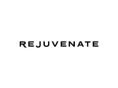 Rejuvenate Logotype logo font simple design herbal light black bw branding skin skin care minimalistic luxurious letter extended minimal simple logotype luxury skincare