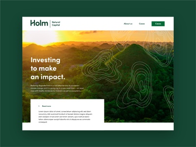 Holm Branding Websdesign Homepage Concept hero branding home page landing page investment recycle scandinavian friendly web agriculture agri eco organic minimal green ux ui webdesign nature environmental