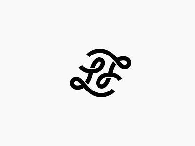 LJ Monogram Personal Brand ambigram j l monogram letters badge playful curly simple white black bw lj typography line monoline minimal personal branding logo