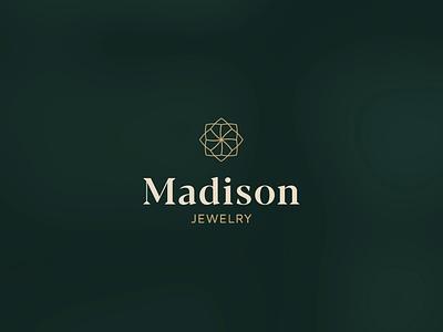 Madison Logo Animation logo vector branding gif gif animated gif vectors serif outlined minimal luxury lines jewelry greens gold logo animation animation diamond branding badge