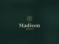 Madison Logo Animation logo vector branding gif gif animated gif vectors serif outlined minimal luxury lines jewelry greens gold logo animation animation diamond branding badge