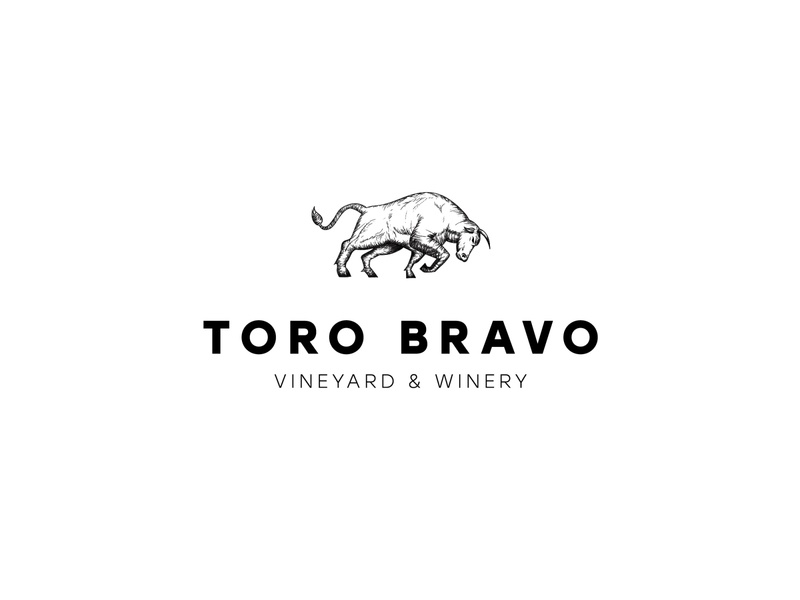 Toro Bravo Logo lines badge mark vector detailed minimal modern classy vineyard winery wine traditional drawing etching etch bull logo