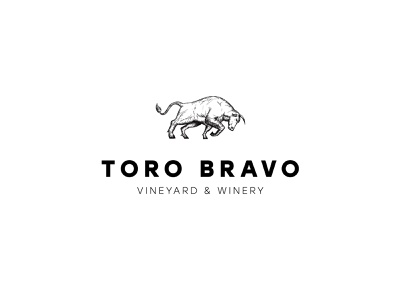 Toro Bravo Logo lines badge mark vector detailed minimal modern classy vineyard winery wine traditional drawing etching etch bull logo