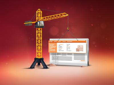 icon TopMenu crane menu website icon shop illustration