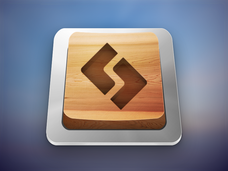 Sublime Text Icon Replacement (+ .sketch source) sketch.app icon woodgrain handcrafted sublimetext