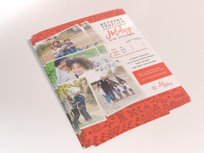 Family Photography Holiday Mini Session Handout photography holiday card brochure