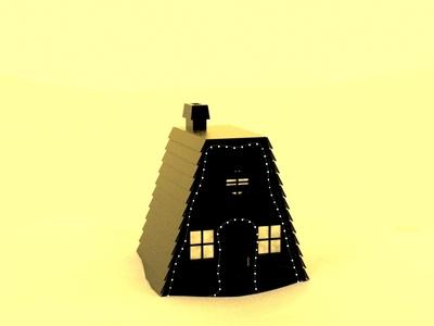 Cozy Sand Cabin surreal silhouette modo 3d