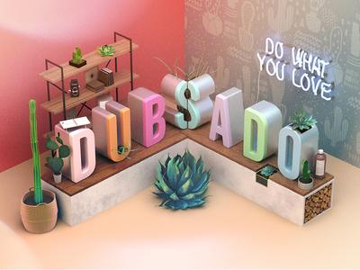 Brand Illustration office succulent branding 3d illustration
