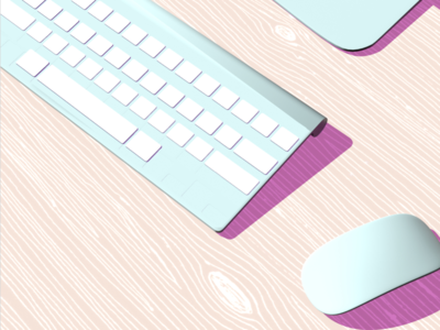 Keyboard Lofi pattern closeup illustration